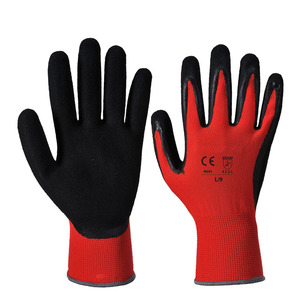 Nylon Knitted Sandy Nitrile Gloves Sandy Finished Nitrile Gloves Safety+ Work Gloves