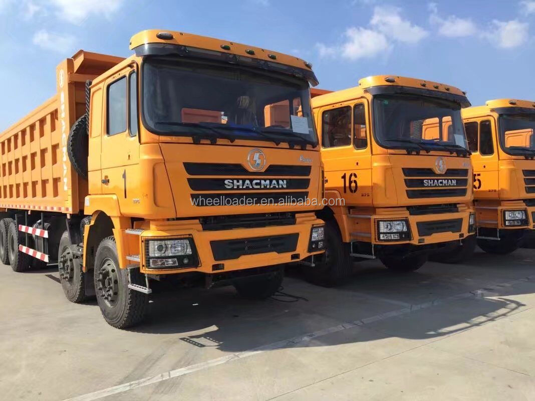 Shacman f3000 8X4 cng dump truck 380hp for sale