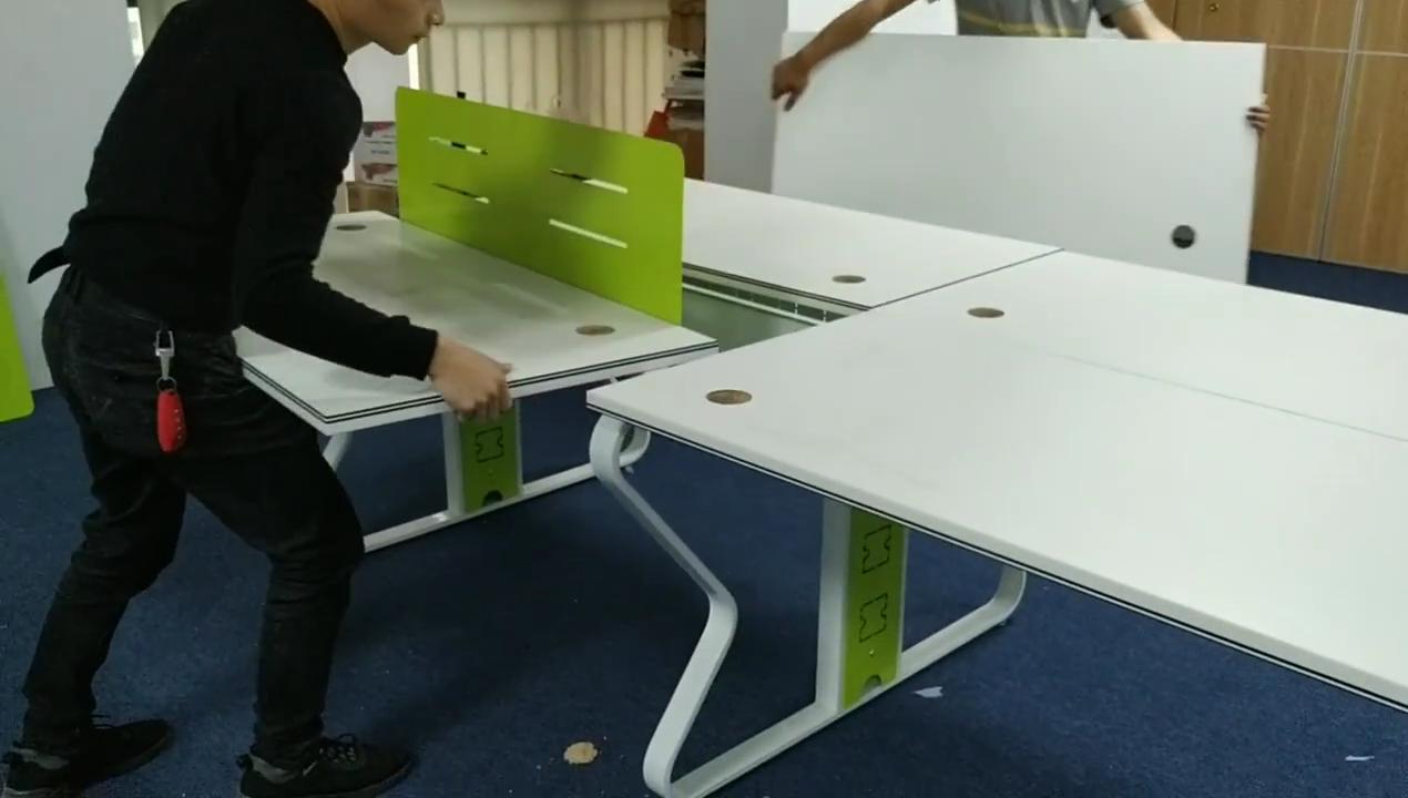 Foshan fábrica de muebles de oficina cubículo estación de trabajo con cara de