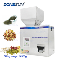 ZONESUN 5-500g Vibration Coffer Bean Tea Bag Sachet Powder Pouch Automatic Racking Weighing Filling Machinery