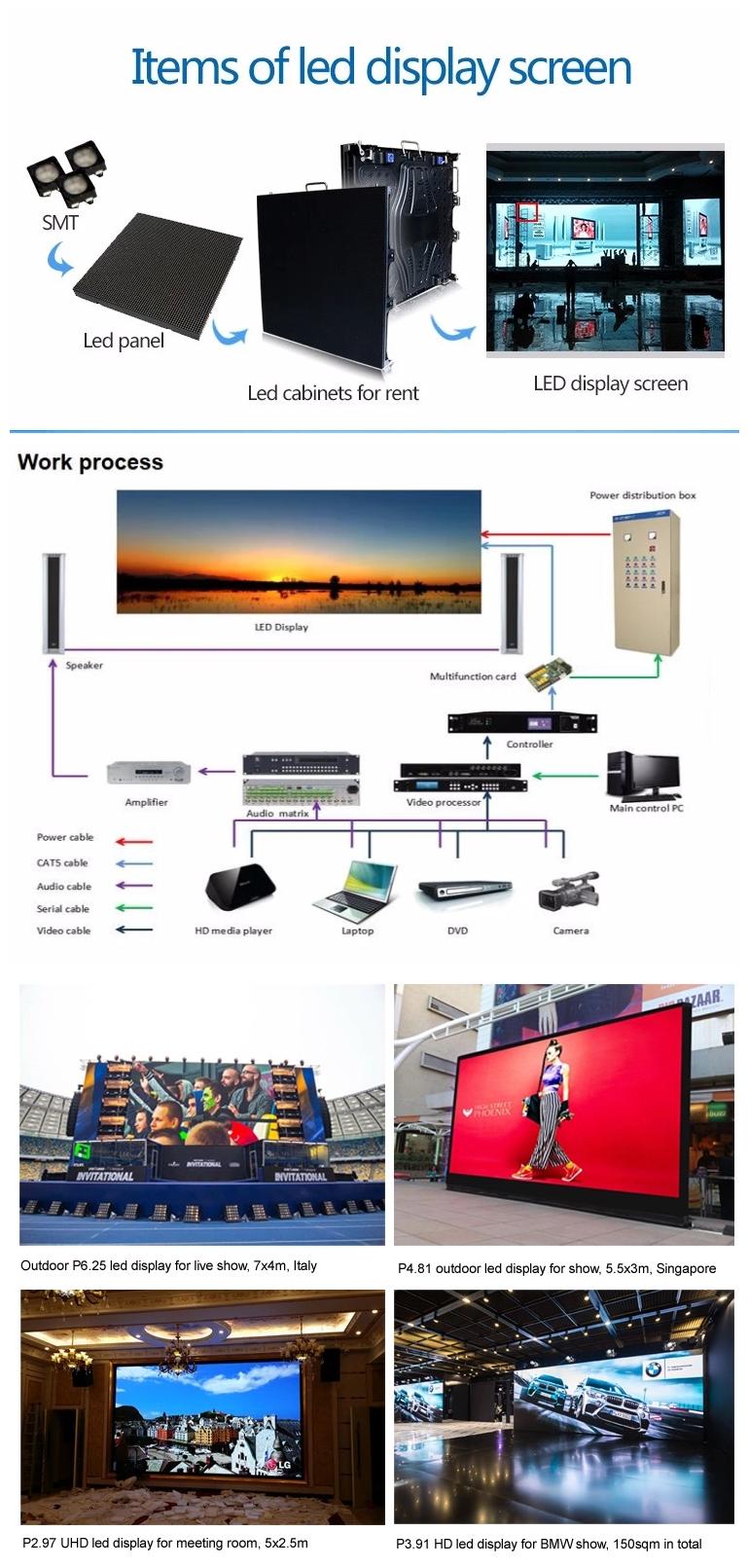 Video function rental led display advertising board, indoor led display screen rental