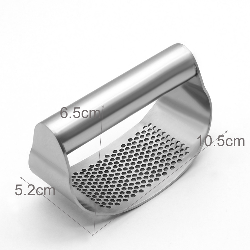 Kitchen Vegetable Cutting Tools Metal / Stainless Steel Garlic Press