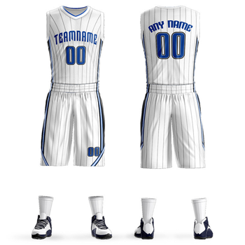 Custom Basketball Uniforms Polyester Sublimation Breathable Sets