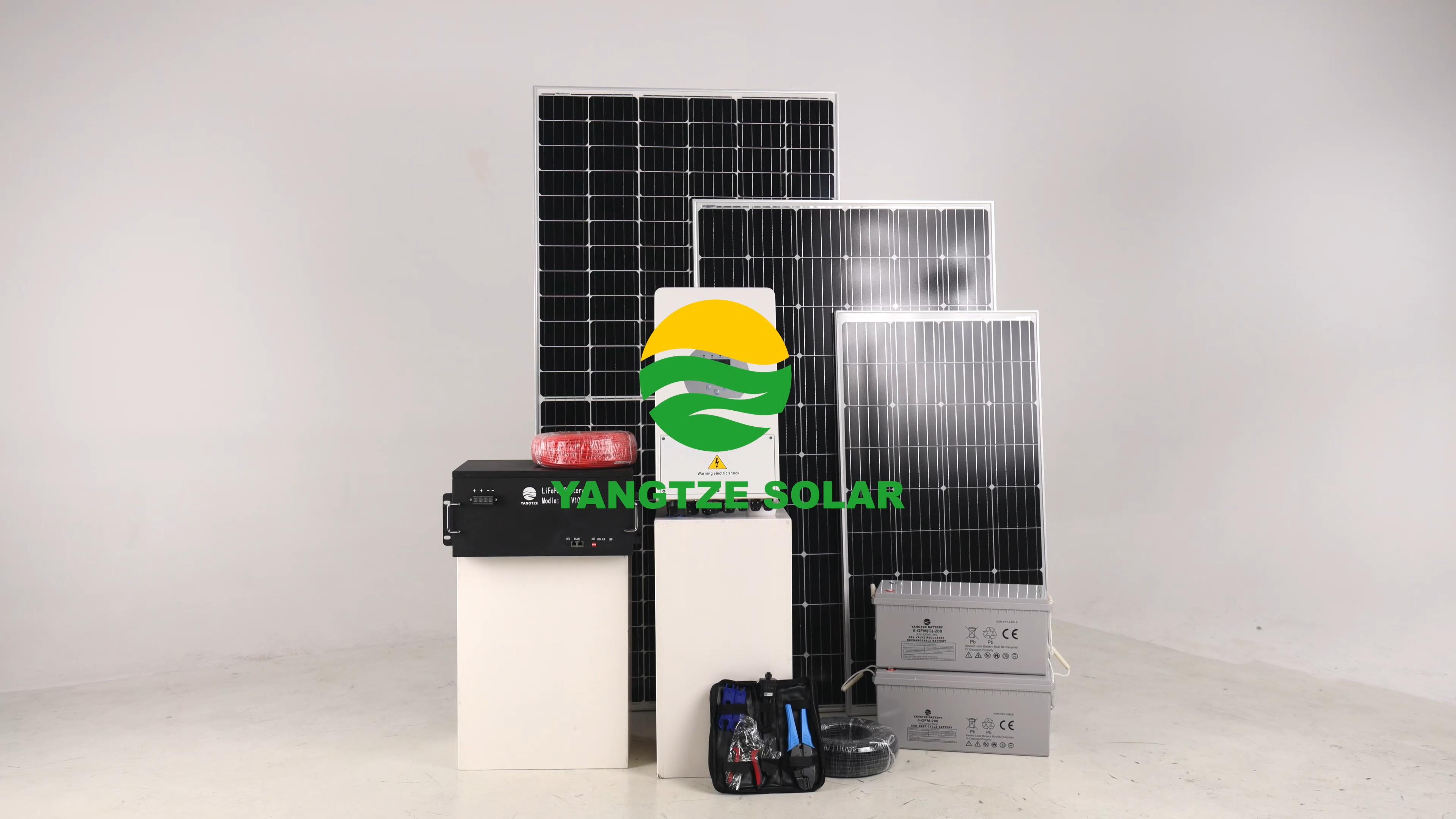 Energi Terbarukan 5kw Hibrida Rumah Panel Surya dengan Baterai Charger