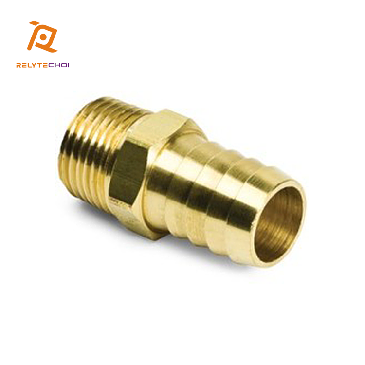China Wholesale Most Popular CNC Machining Round 3/4&quot; NPT Brass Male Hose Barb <strong>Fitting</strong> for Male Pipe