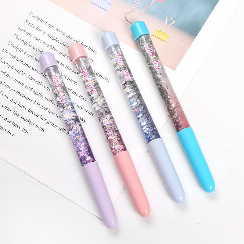 Creative Stationery Fairy Wand Gel Pen Glitter Floating Oil Quicksand Magic Wand Pen