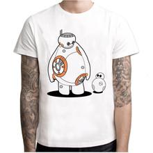 Футболка Для мужчин Летняя короткая футболка с героями из японского аниме «смешные мужские футболки робот Футболка с принтом Дарта Вейдера...(Китай)