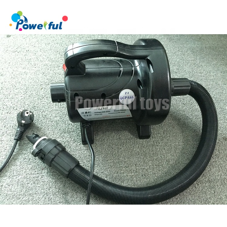 Electric air pump, small air blower for inflatables with different plug