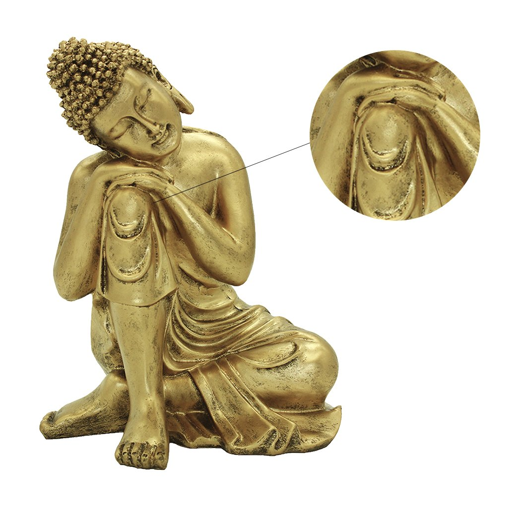 Wohnkultur Harz Napping Indische Buddha Statue Gold