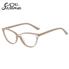 Оправа для очков в стиле кошачьи глаза женские бежевые очки модные женские очки оправа ацетат близорукость очки прозрачные Gafas очки оправа ...(Китай)
