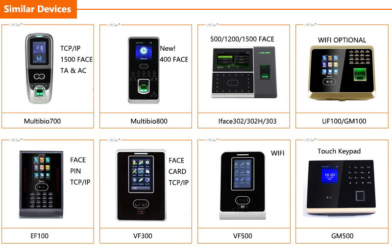 FA200 Biometric Facial Fingerprint Time Attendance Machine TCP/IP Free Software Face Time Attendance