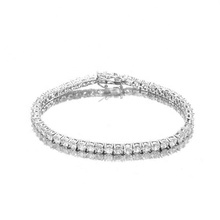 Bracelet de tennis en or blanc délicat diamant cz 3mm