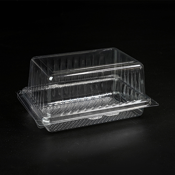 Clear disposable food container plastic clamshell cake box packages