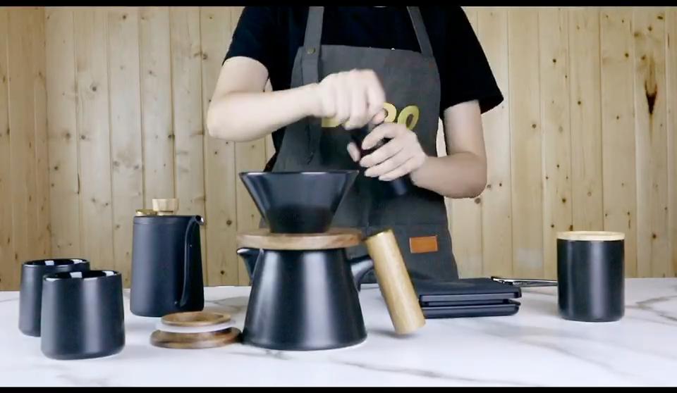 DHPO et DDHBA 2020 nouveauté v60 goutte à goutte en céramique cafetière meuleuse coffret valise de voyage de haute qualité