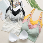 Lace Wrapped Chest Girl Vest Yoga Sleep Bra Spandex Underwear High Quality Top Women Sexy Bralette
