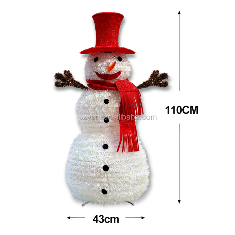 New product ideas 2019 christmas decoration white hot sales christmas snowman decor