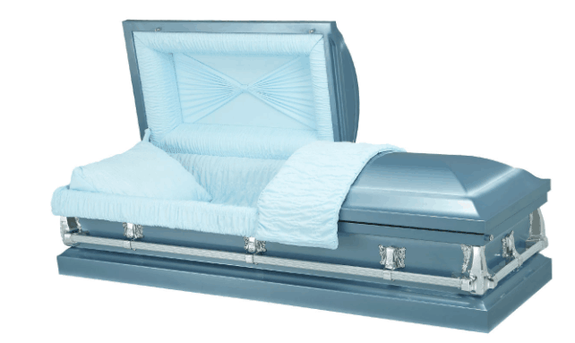 Funeral metal casket made in China