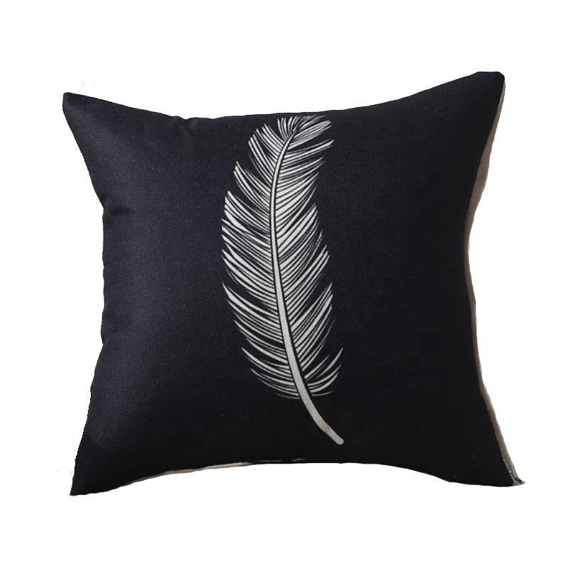 Venta al por mayor cojines decorados con plumas Compre