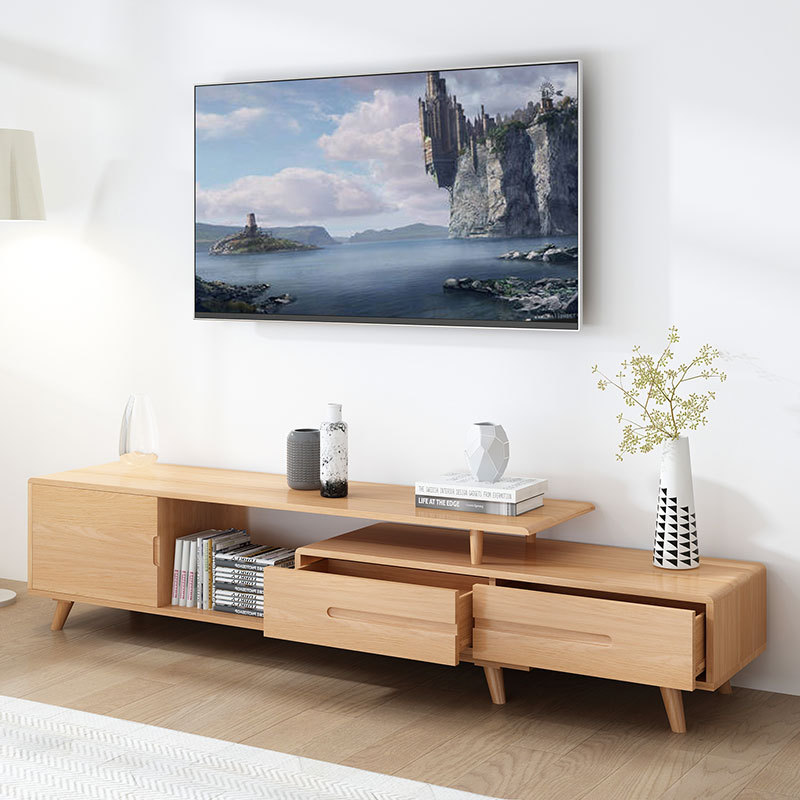 product-Hot sale tv cabinet modern wooden tv stand retractable wooden tv cabinet table extendable wi-1