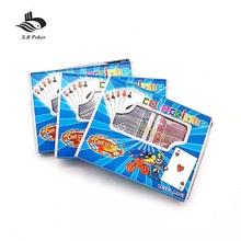 Custom club printing casino magic plastic papier spel dek speelkaart