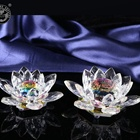 MH-LH002 Rainbow crystal lotus flower for home decoration