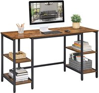 VASAGLE industrial antique style wood top iron leg brown computer desk home office furniture writing desk