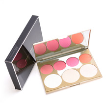 PARTYQUEEN Blush & Highlight Palette Blush Palette OEM และ ODM. Private ฉลาก