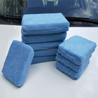 11.5x9cm Blue Cleaning Polishing Buffing Sponge Foam Pad Block Square Microfiber Wax Applicator for Auto Detailing Car Care