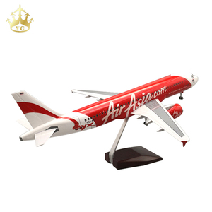 Souvenir Plane Model Airplane Plastic Air Airbus A320 Asia Airlines 1/80 Plane Model