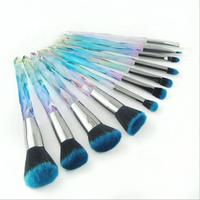 10pcs transparent handle maquillaje cosmetic brushes diamond makeup brush set