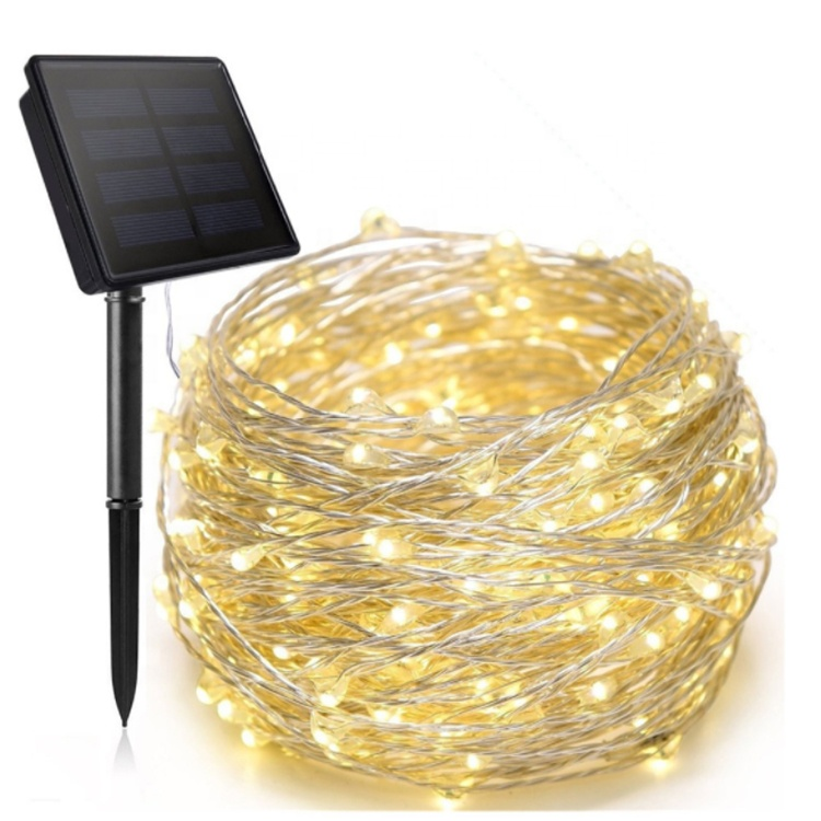 Mini waterproof 12 meter RGB warm white  solar Christmas lights Diwali light outdoor led rope light