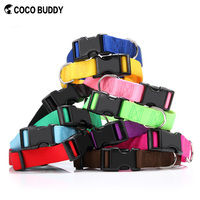 Cocobuddy Classic Cheap Nylon Dog Pet Collar With Plastic Buckle