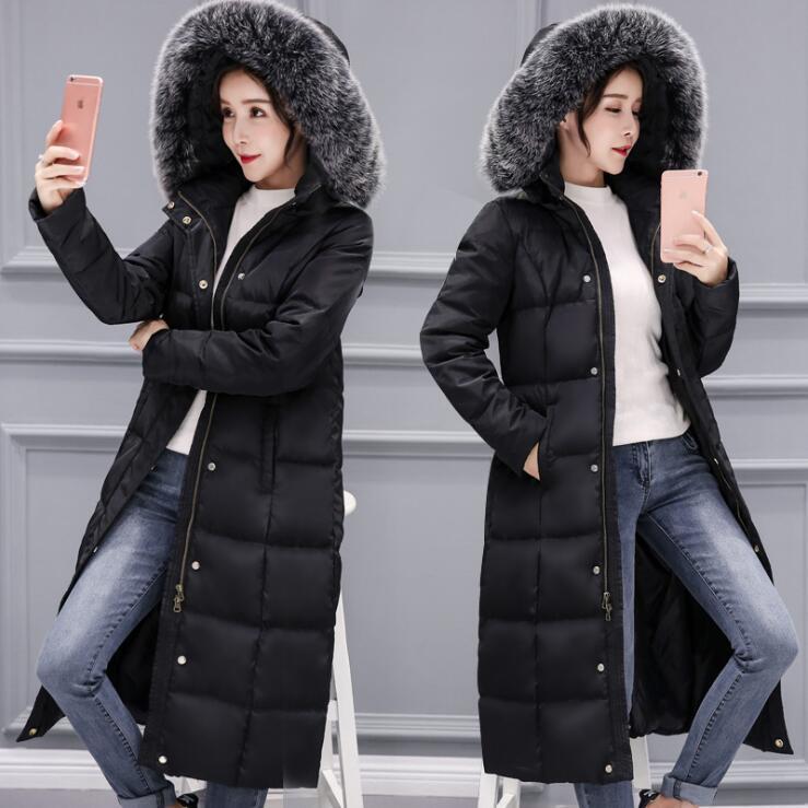 2009年冬新作ラージカラーウォームレディースウェアエクステンデント & シックダウンガーメントレディース韓国ウィンターファッションスリムジャケット
