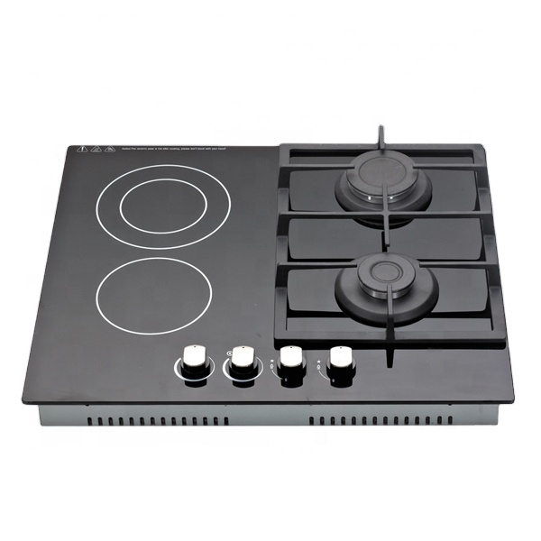 Gas Electric Cooktop 2 gas + 2 Electric Burner