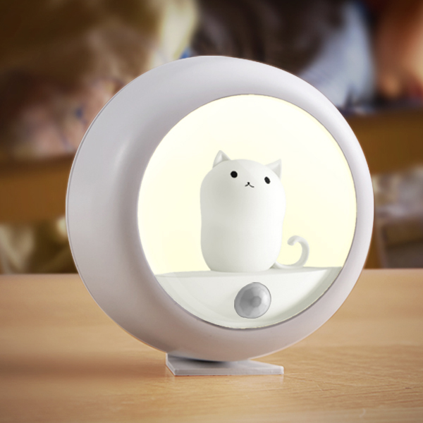 <strong>Color</strong> Changing Led <strong>Lights</strong> Soft Silicone Cute Kitty Baby Children Kids Nursery Led Night <strong>Light</strong> Lamp