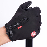 Wholesale men's autumn and winter outdoor waterproof sport windproof riding touch screen full-fingered gloves
