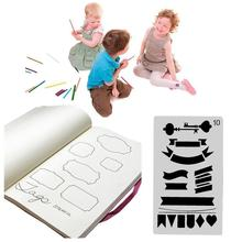 20 Pcs Journal Stencil Plastik Planner Set untuk Jurnal/Notebook/Buku Harian/Scrapbook Diy Menggambar Template Jurnal <span class=keywords><strong>Stensil</strong></span> 4X7 Inch