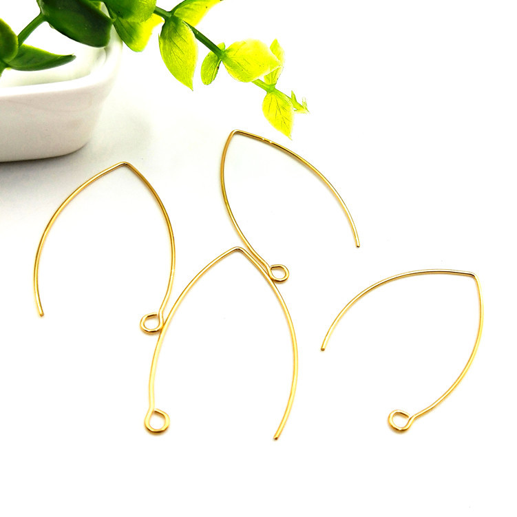 Hypoallergenic <strong>Earrings</strong> <strong>Hook</strong> 316L <strong>Gold</strong> Plated Stainless Steel Marquise <strong>Earring</strong> <strong>Hooks</strong> Earwires