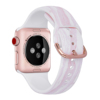 Pink marble silicone watch band for apple watch