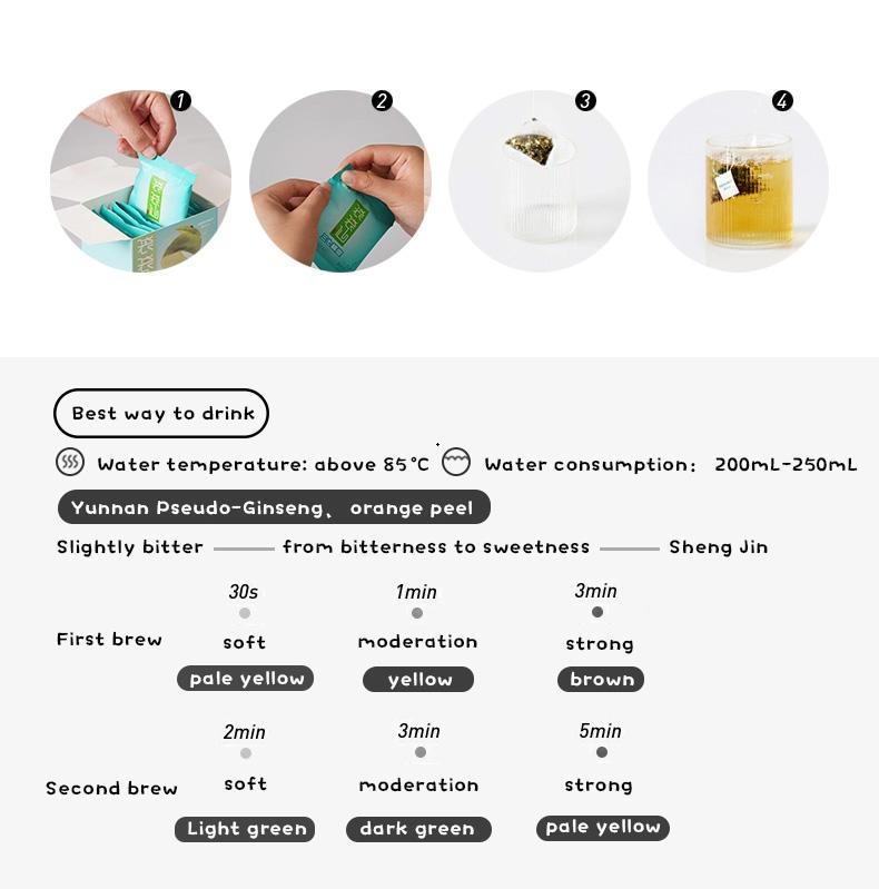 Chinese herbal paste Notoginseng orange peel tea for appetite booster - 4uTea | 4uTea.com