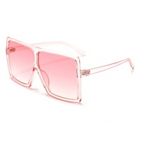 Wholesale trendy rimless metal temple rectangle shades sunglasses small glasses women men 2019