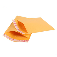 Luxury Yellow kraft paper Bubble Mailers shockproof packaging bag ,clothing envelopes Mailing bags