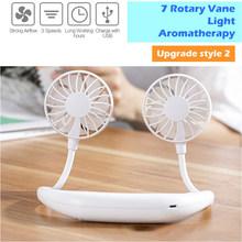 Мини-вентилятор для шеи, USB, портативный, без рук, спортивный, легкий, настольный, перезаряжаемый вентилятор, вентилятор, воздушный охладител...(Китай)
