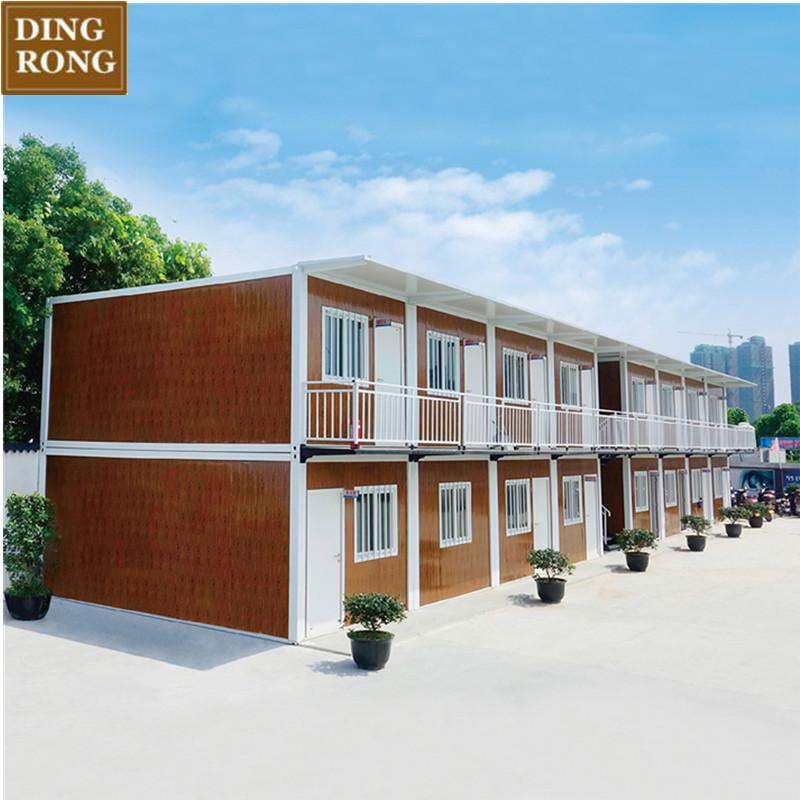 20 piede di legno bungalow prefabbricata casa prefabbricata pronto montare ferro hotel