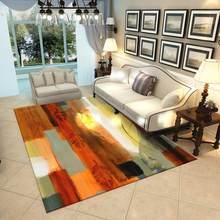 Ковры для гостиной, современный абстрактный художественный декор, мягкий красочный коврик с геометрическим рисунком для спальни, гостиной,...(Китай)