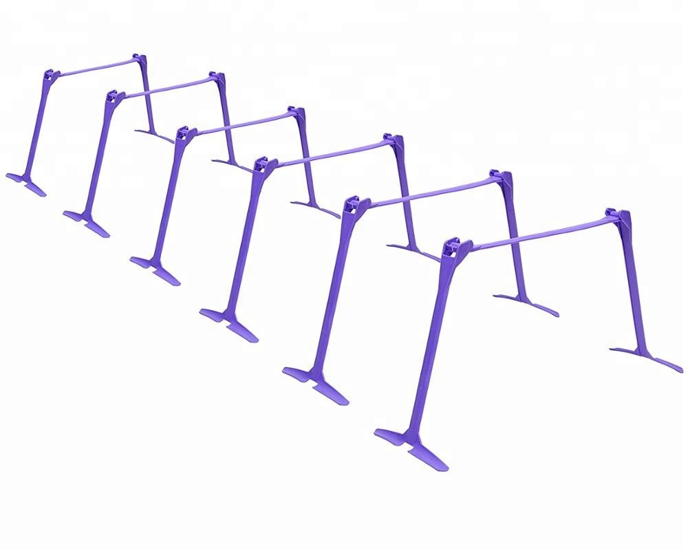 Wholesale adjustable soccer speed agility training hurdles with carry bag