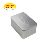 High Quality Silver Embossing Cookies Packaging Tin Box