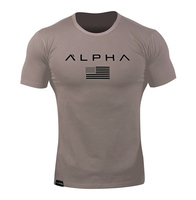 Wholesale Fashion Breathable Custom Cotton Sport Gym Fitness T Shirts For Men Top