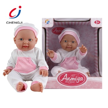 Hot sale kids 15 inches lovely baby girl clothes new born doll toy