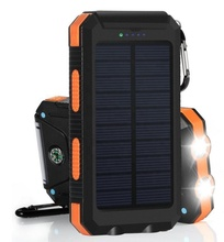 2020 Tahan Air IP68 Solar Power <span class=keywords><strong>Bank</strong></span> 20000Mah 10000Mah, Dual USB Portable Solar Power Station Surya Smartphone Charger
